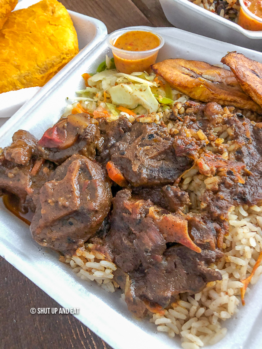 Boom J's small oxtail plate