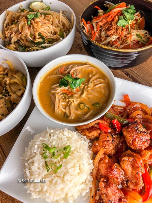 Thai dinner table