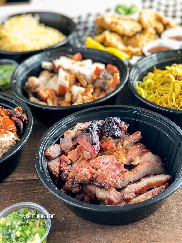 Chinese roasted cha siu bbq pork