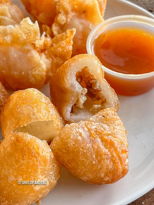 Fried mochi dumpling